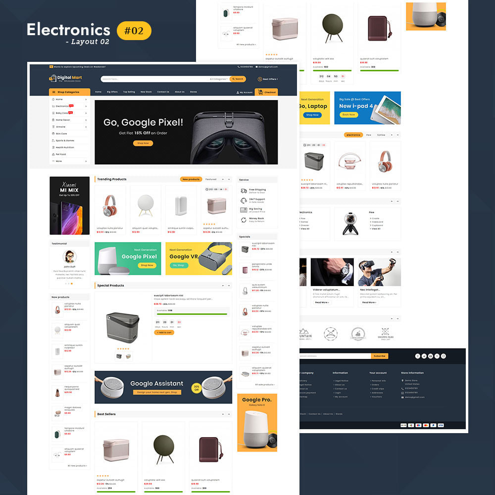 theme - Elettronica & High Tech - Digital Mart - Multi-purpose Mega Store - 3