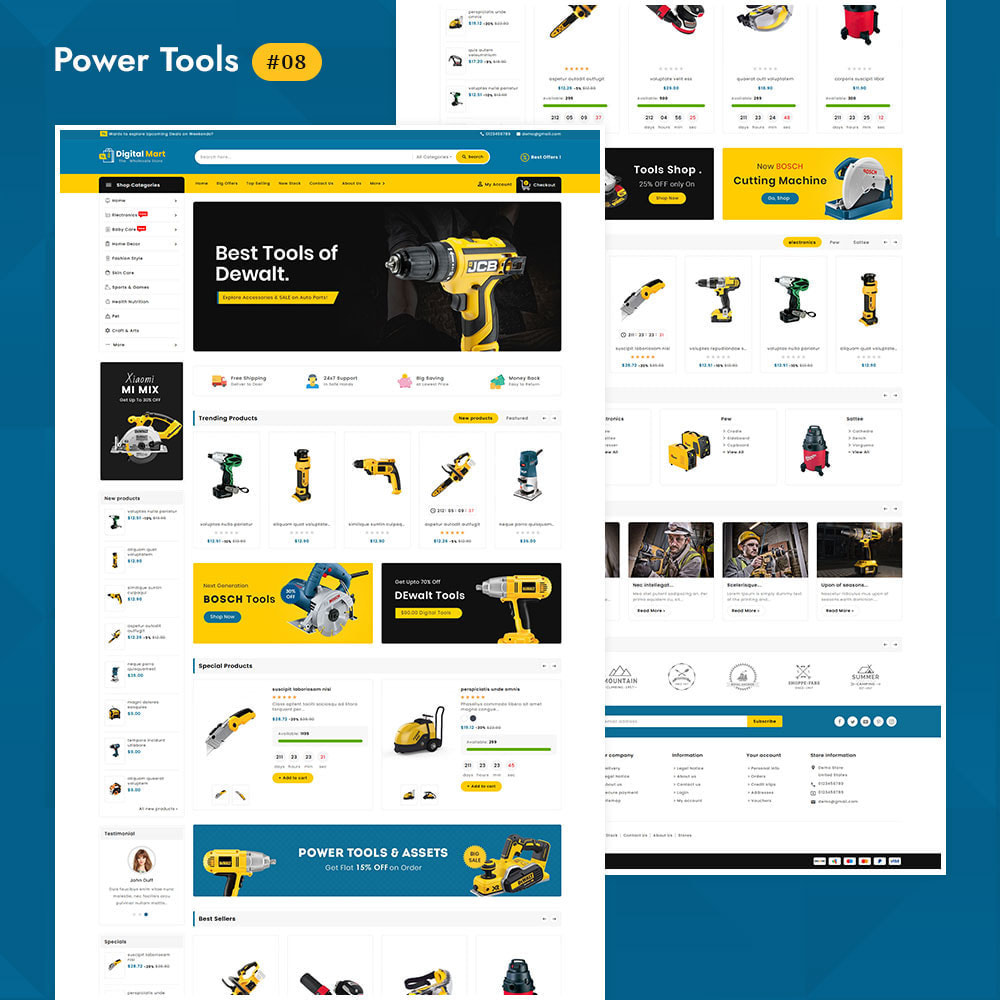 theme - Elektronica & High Tech - Digital Mart - Multi-purpose Mega Store - 9