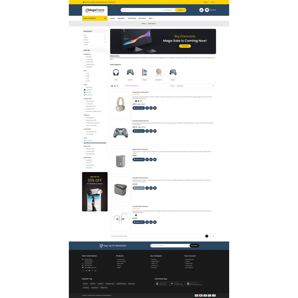 theme - Electronique & High Tech - Mega Trone - Multi Purpose Shop - 13