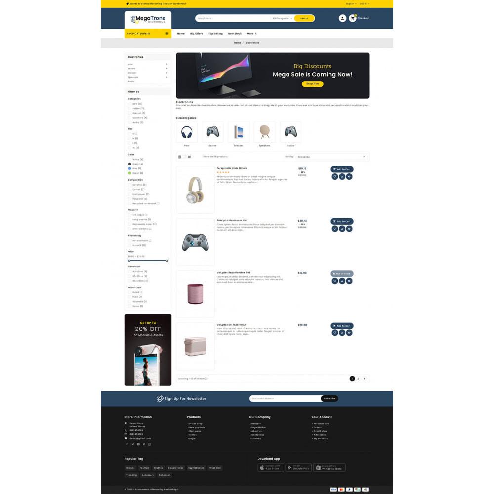 theme - Electronique & High Tech - Mega Trone - Multi Purpose Shop - 14