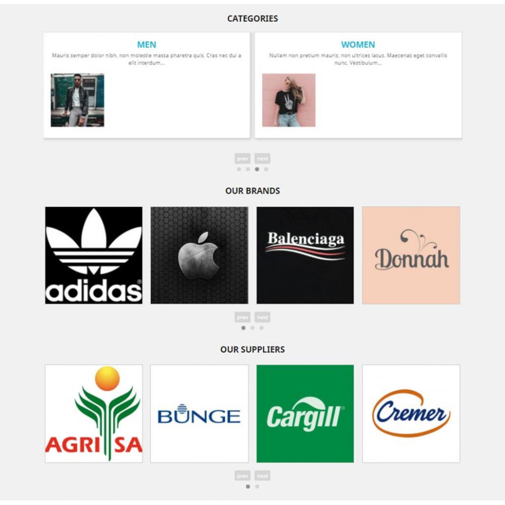 module - Слайдеров (карусельных) и галерей - Carousels Pack - Instagram, Products, Brands, Supplier - 3