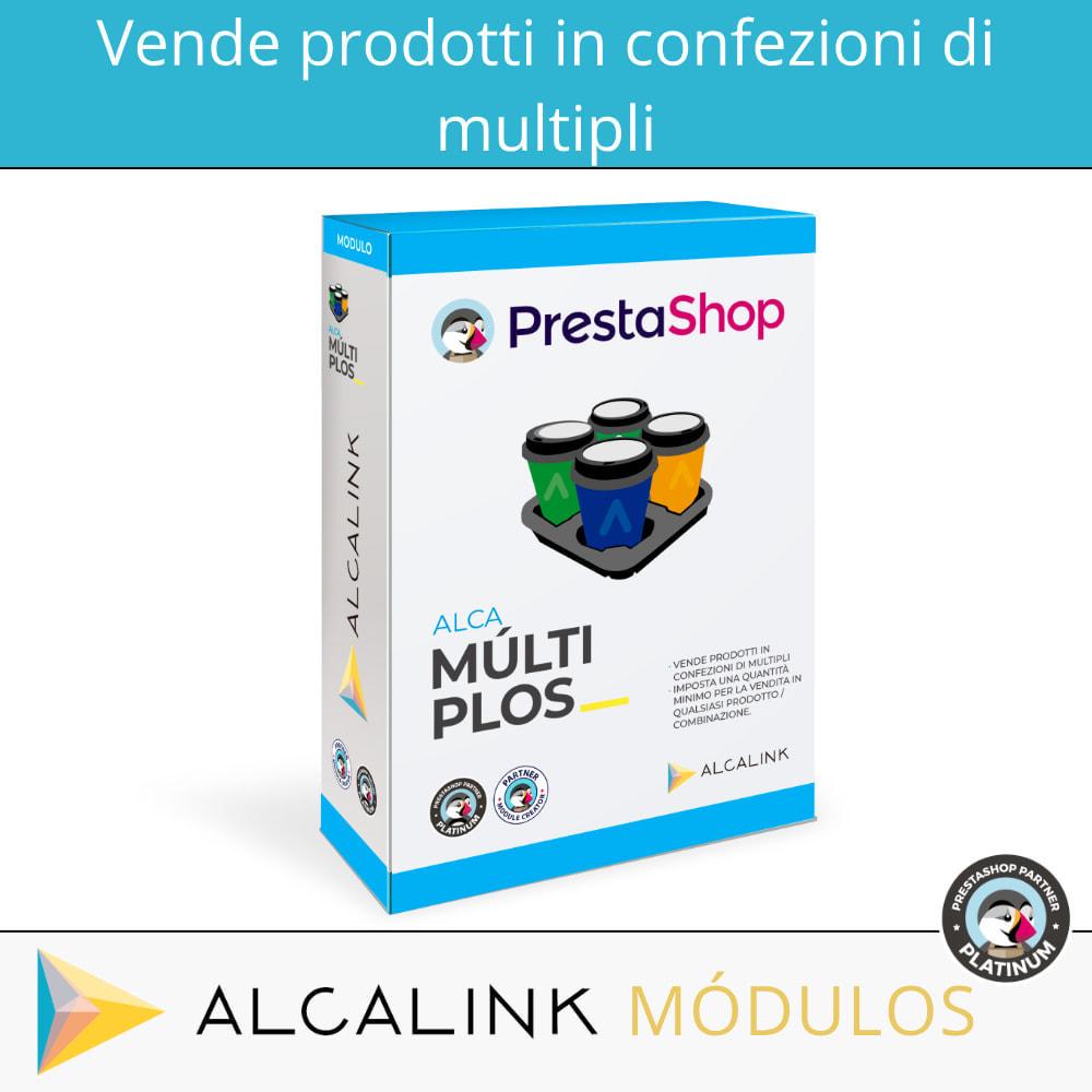 module - Cross-selling & Product Bundle - Vendi prodotti in confezioni con una quantità minima - 1
