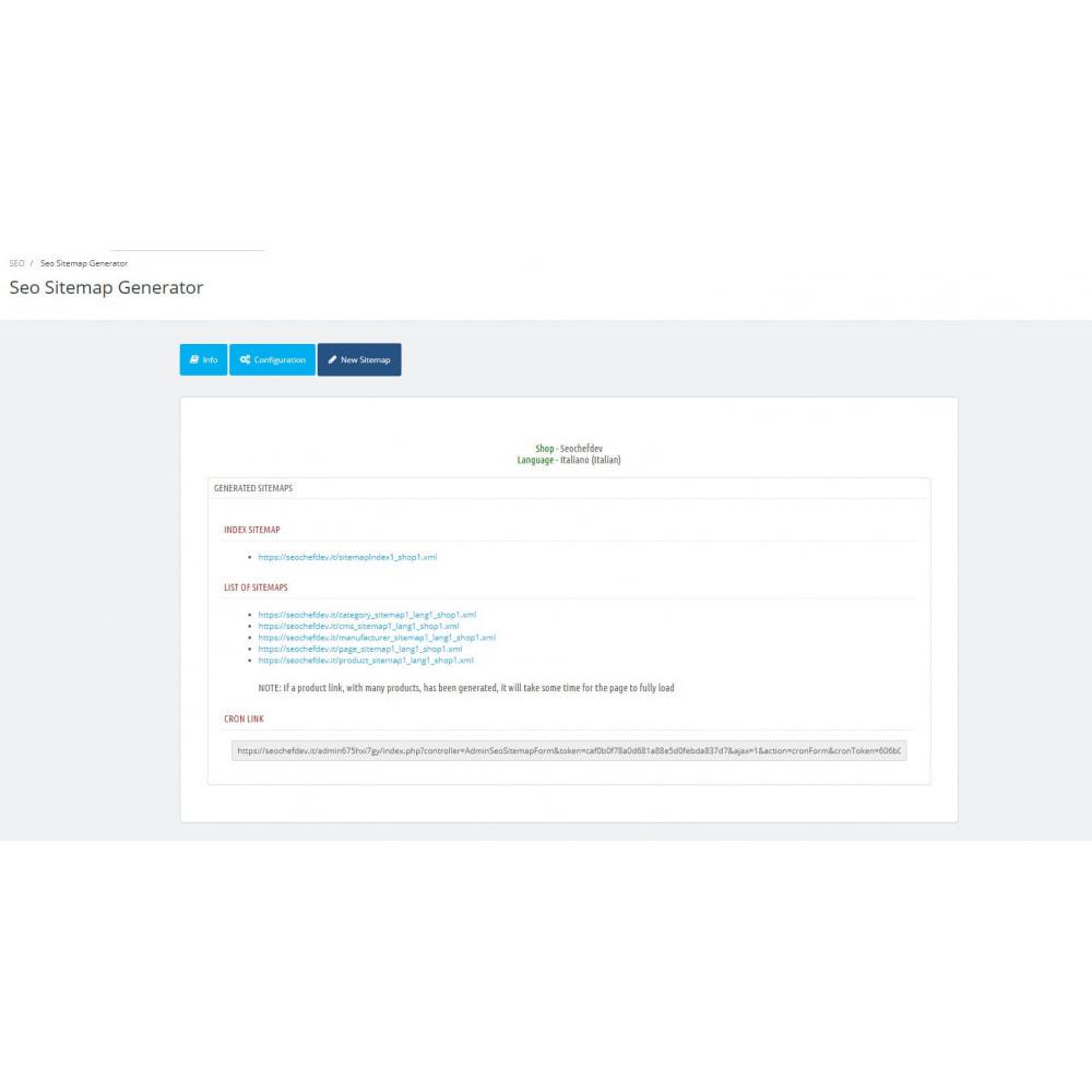 module - SEO (référencement naturel) - Automatic SEO sitemap - 1