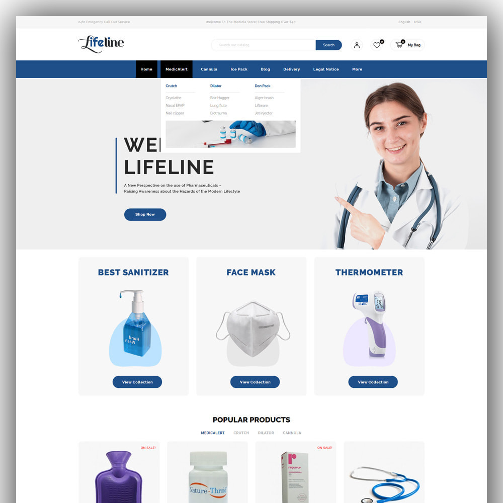 theme - Salute & Bellezza - Lifeline Medical Store - 2