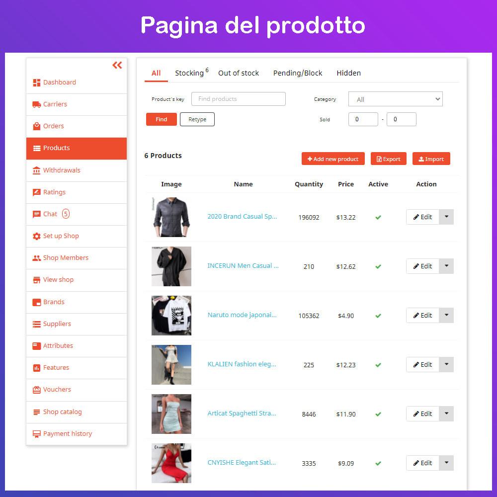 module - Creazione Marketplace - Mercato Ecommerce multifornitore - 15