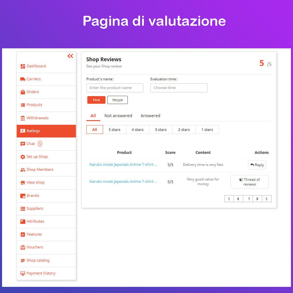 module - Creazione Marketplace - Mercato Ecommerce multifornitore - 16