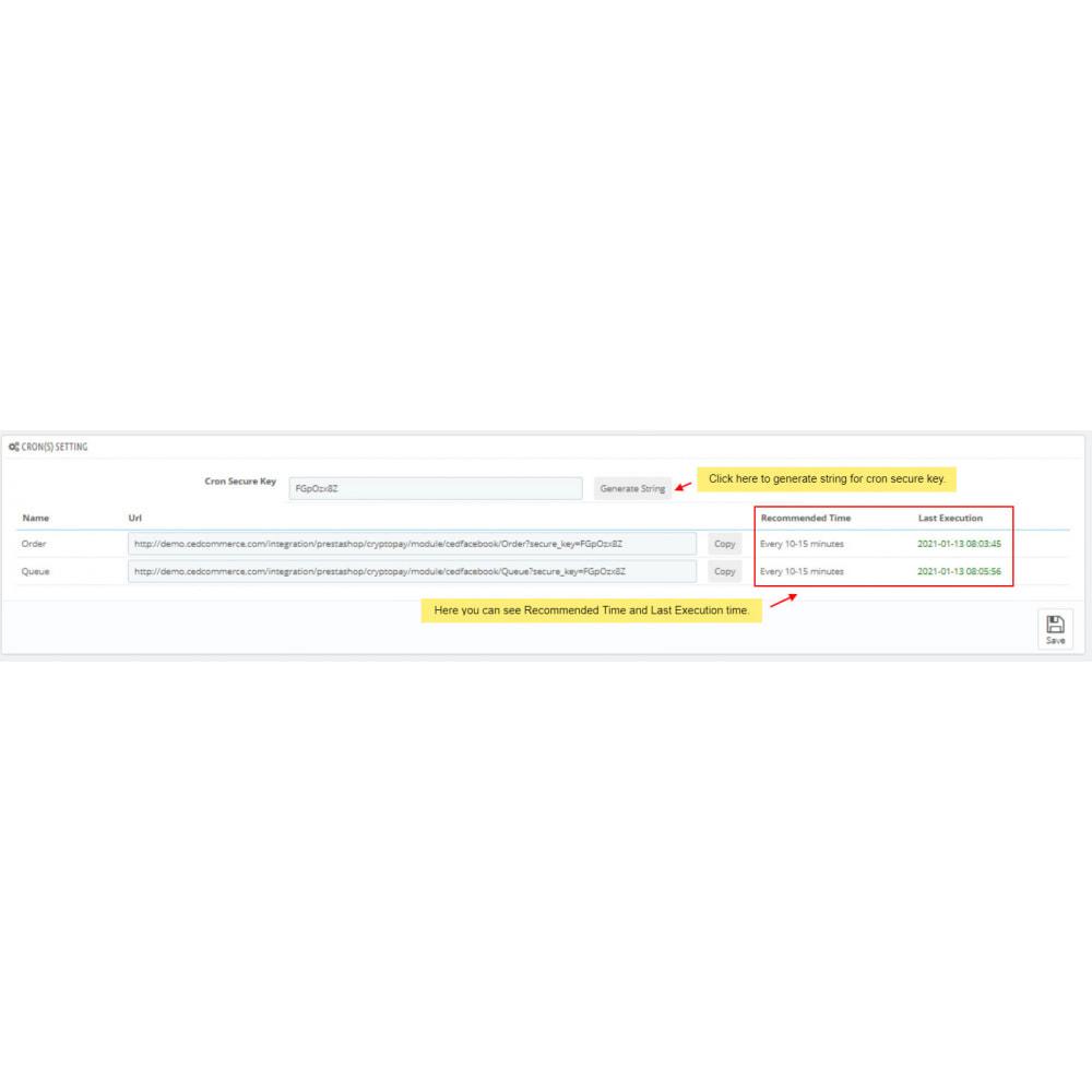 module - Marktplätze - Facebook Integration - 4