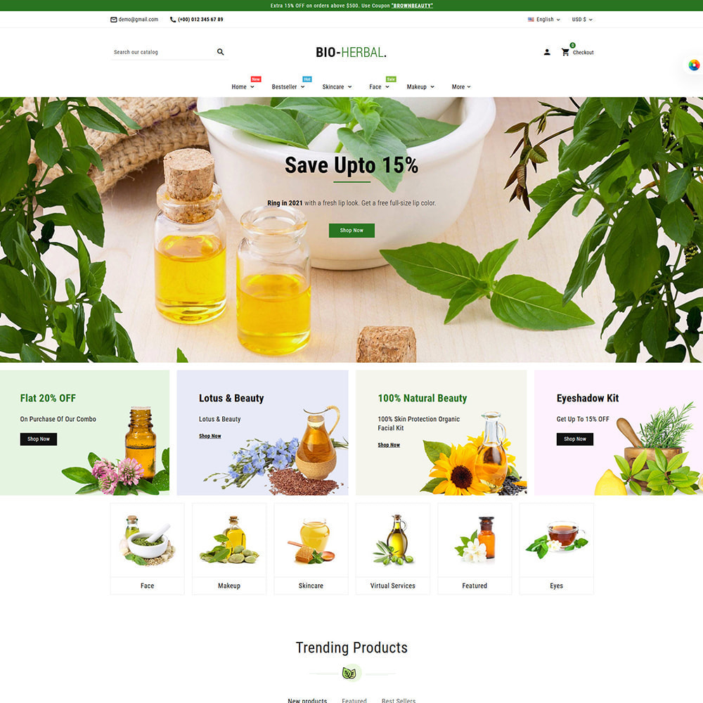 theme - Health & Beauty - Brownbeauty - Herbal Care - 4