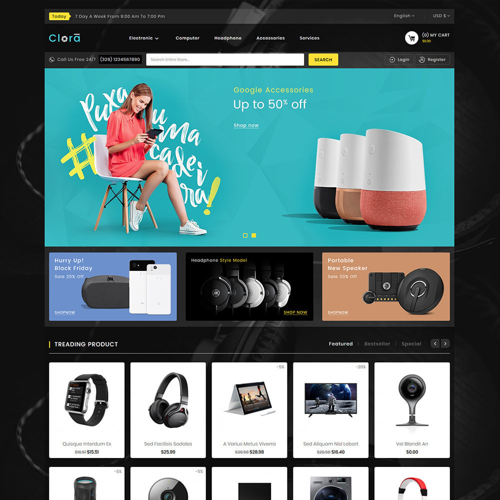 theme - Electronics & Computers - Clora - Super Multistore Mart - 2