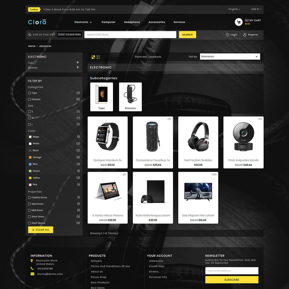 theme - Electronics & Computers - Clora - Super Multistore Mart - 3