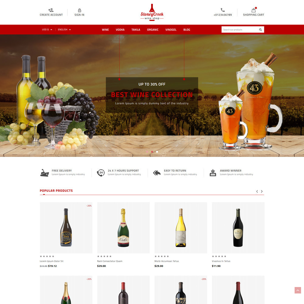 theme - Bebidas & Tabaco - StoneyCreek Drink & Tobacco Store - 1