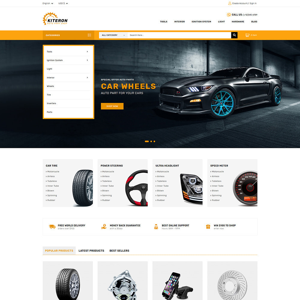 theme - Automotive & Cars - Kiteron Automotive & Cars Shop - 1