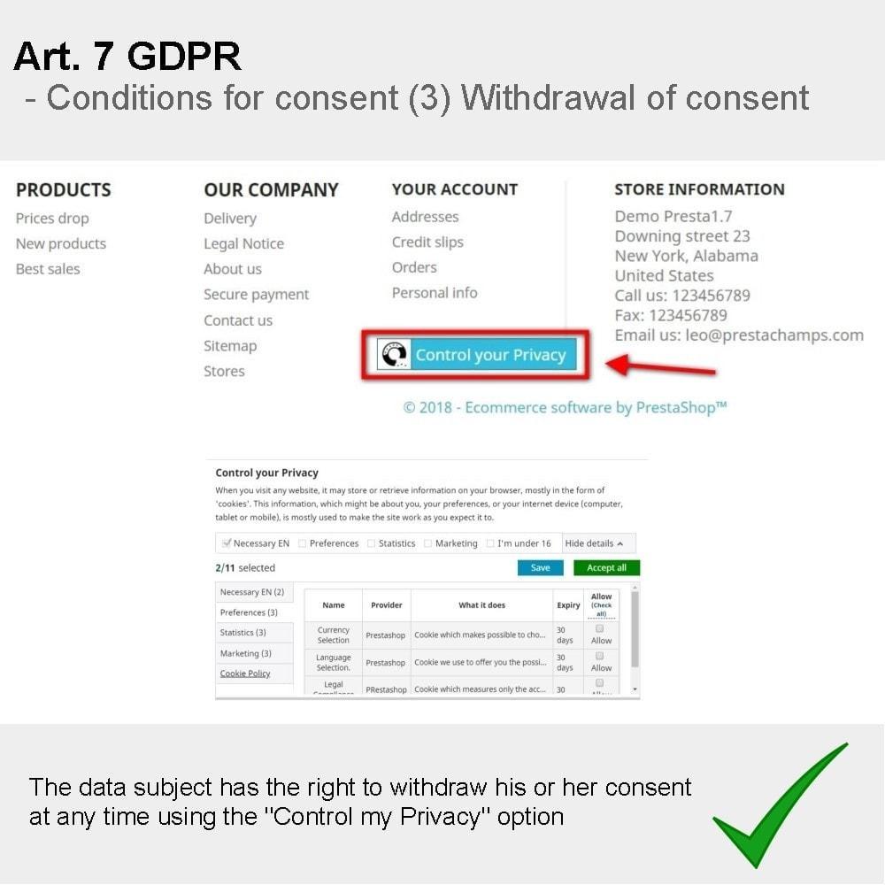 module - Rechtssicherheit - GDPR Compliance Pro - 2021 Verbesserte Edition - 18