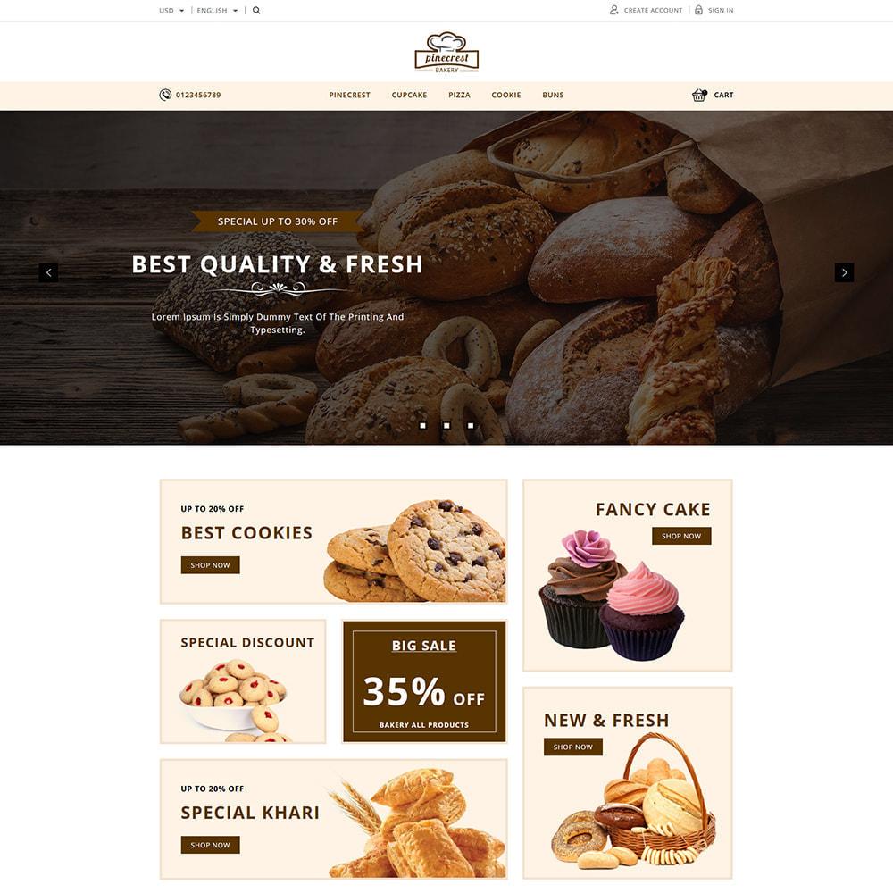theme - Food & Restaurant - Pinecrest Cakes & Cookies Store - 1