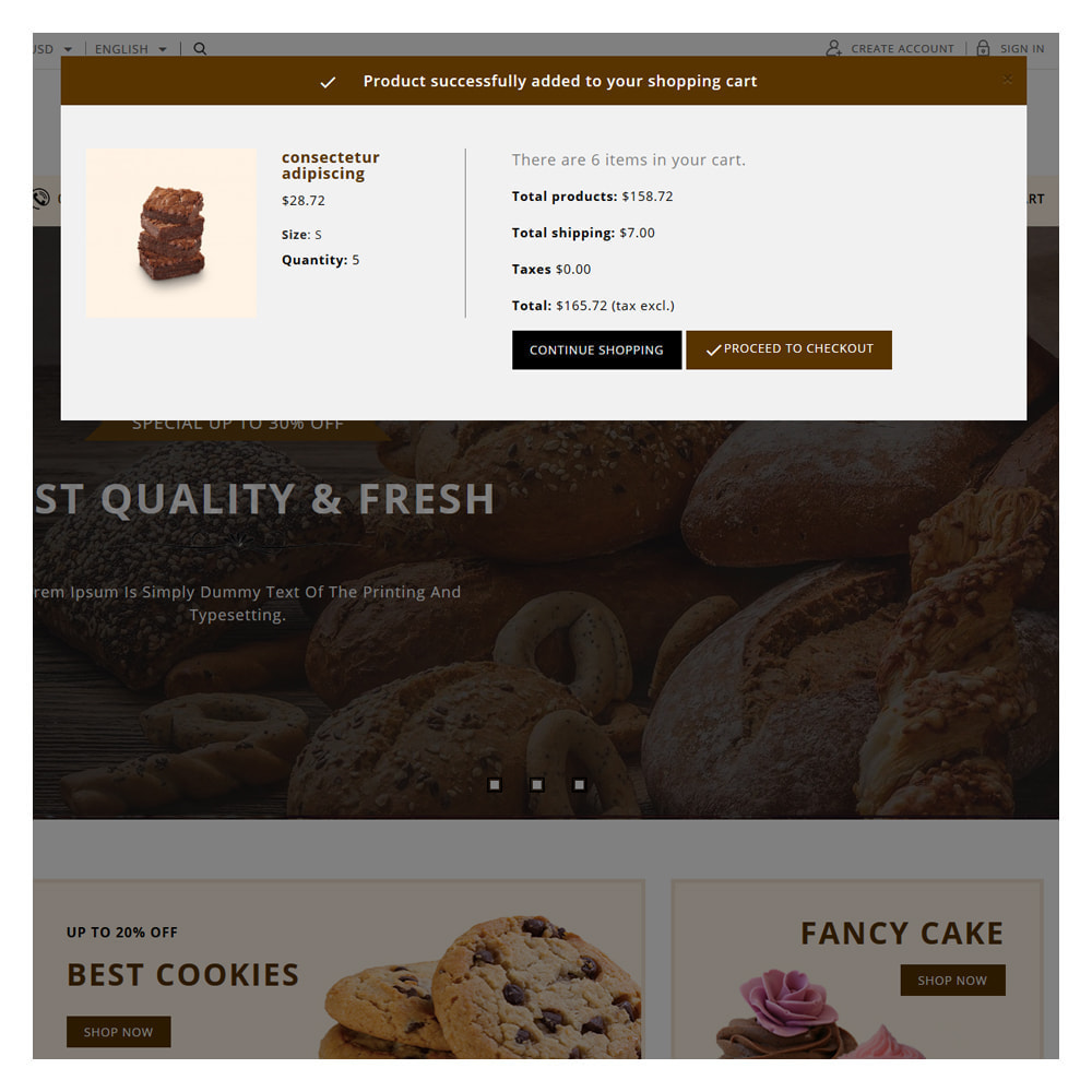 theme - Food & Restaurant - Pinecrest Cakes & Cookies Store - 4