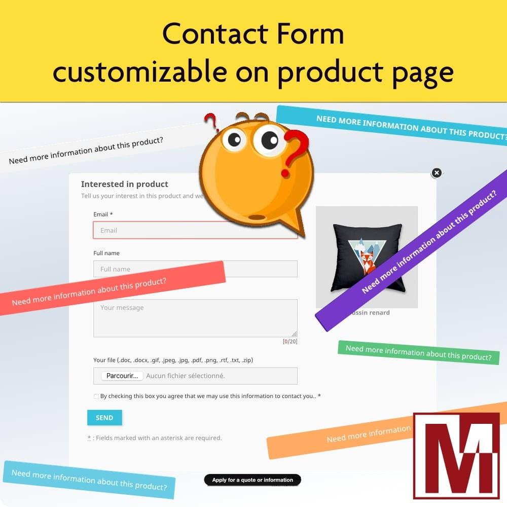 module - Formulário de contato & Pesquisas - Dynamic contact form on product page - 1