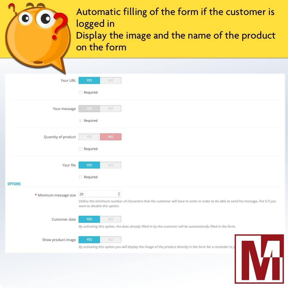 module - Contactformulier & Enquêtes - Dynamic contact form on product page - 8