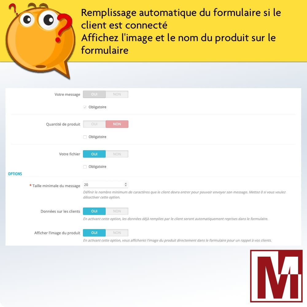 module - Formulaires de Contact & Sondages - Formulaire de contact dynamique sur page produit - 8
