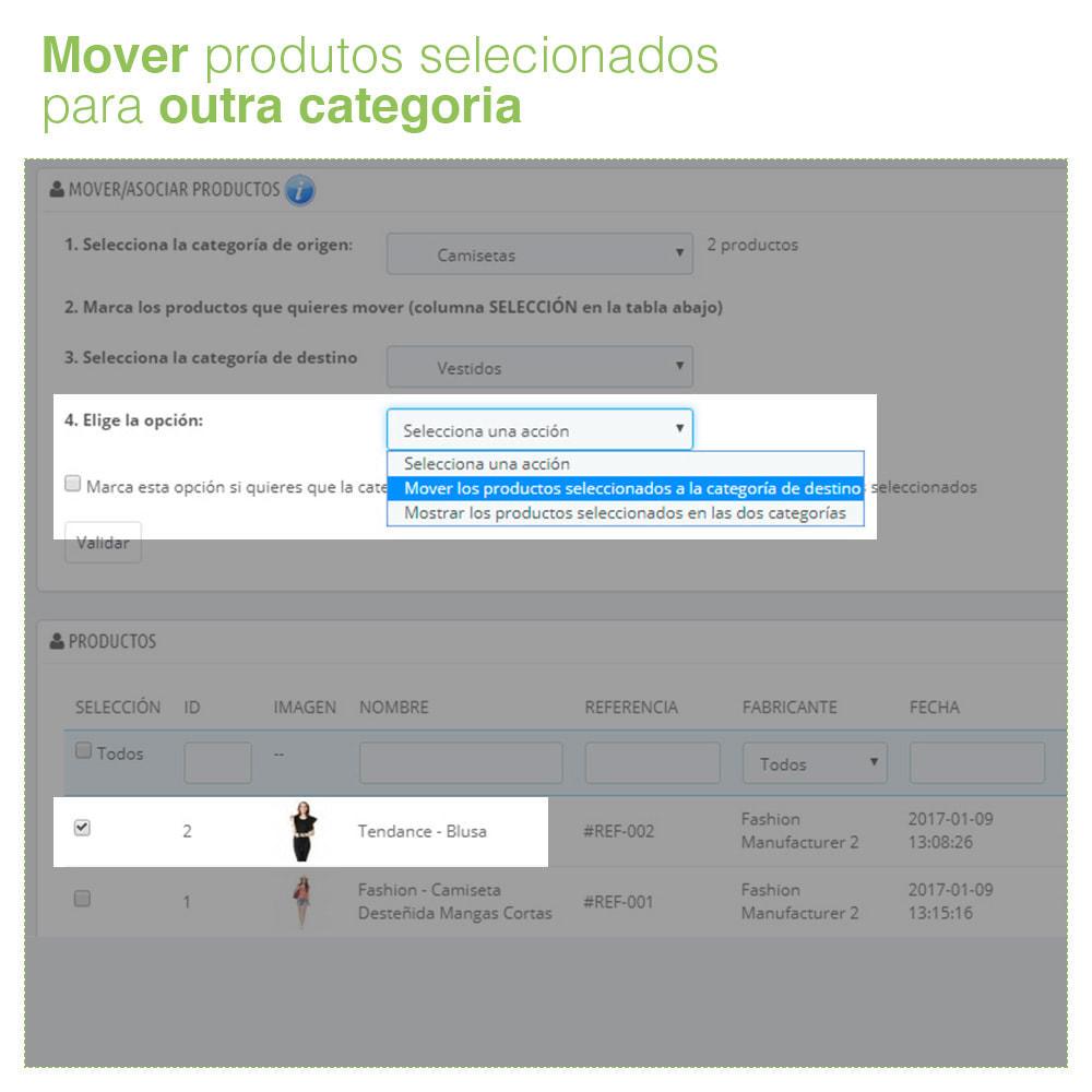 module - Edição rápida & em massa - Mover e associar produtos entre categorias em massa - 4