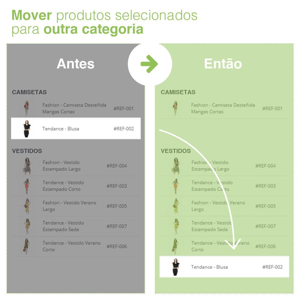 module - Edição rápida & em massa - Mover e associar produtos entre categorias em massa - 5