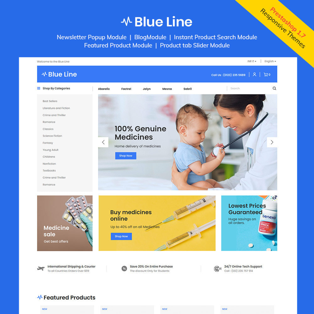 theme - Health & Beauty - Blue Line - Medical Vitamin Store - 1