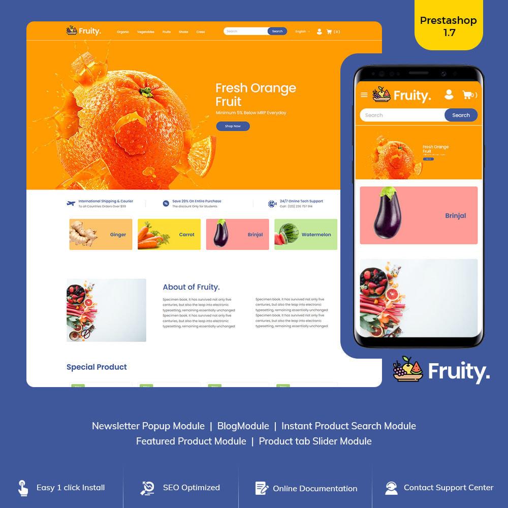 theme - Food & Restaurant - Fruity Vegetable  - Fruit Food  Store - 1