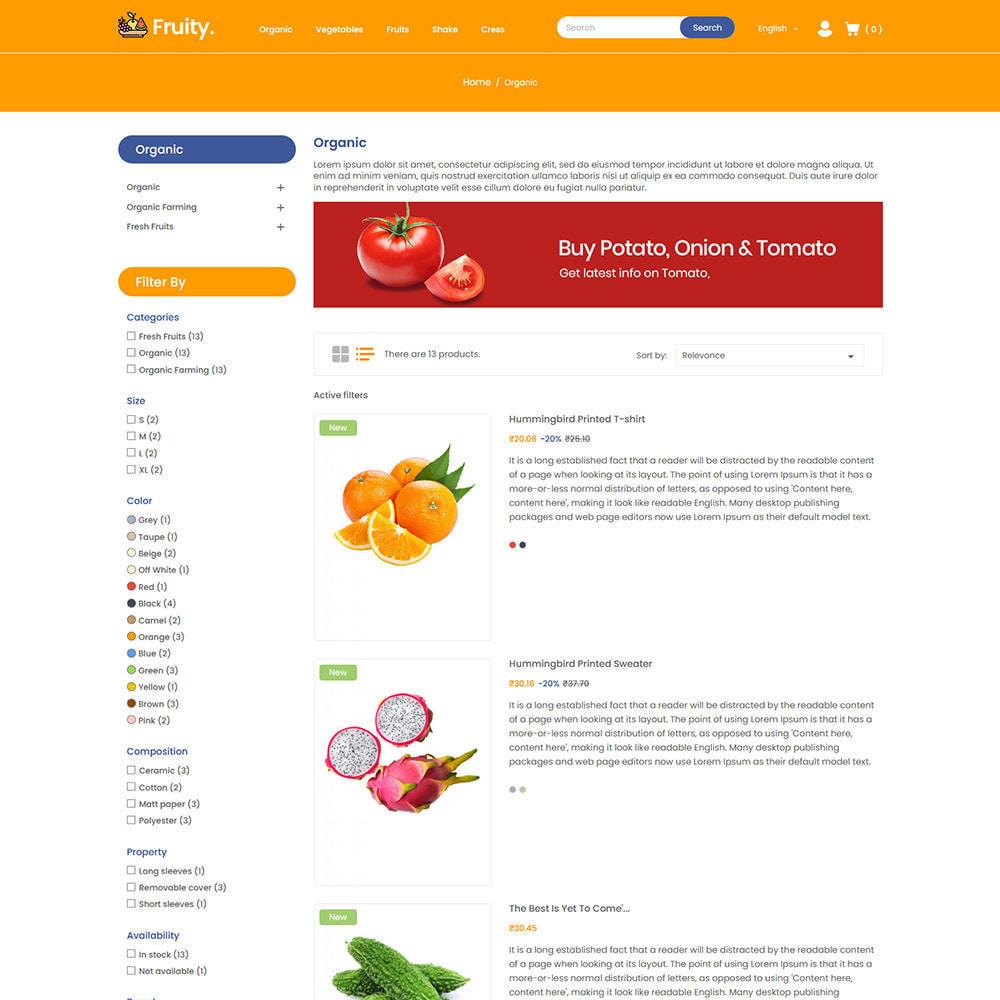 theme - Food & Restaurant - Fruity Vegetable  - Fruit Food  Store - 4