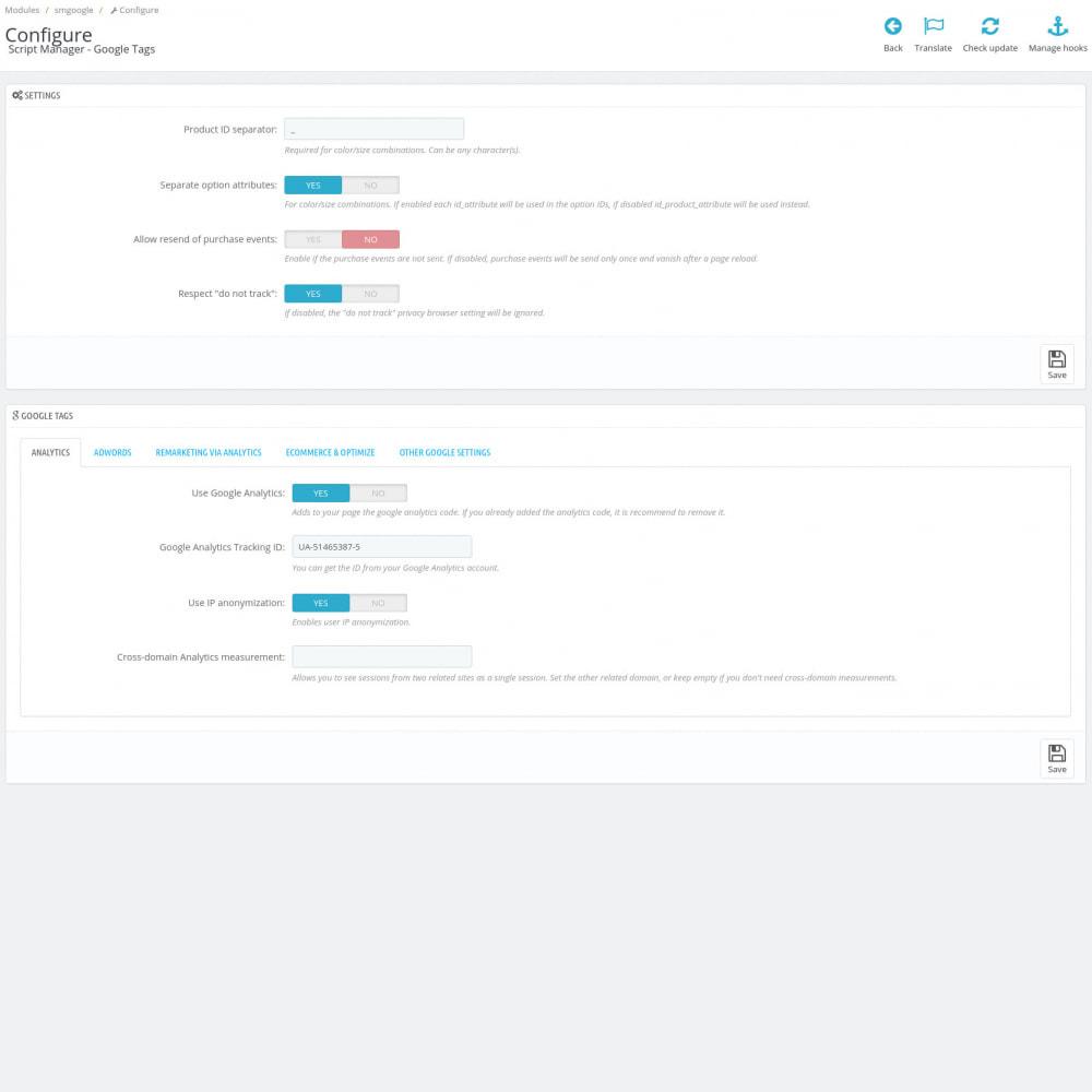 module - Статистика и анализ - Google Marketing Tags (Dynamic scripts, GA4 API & GDPR) - 4