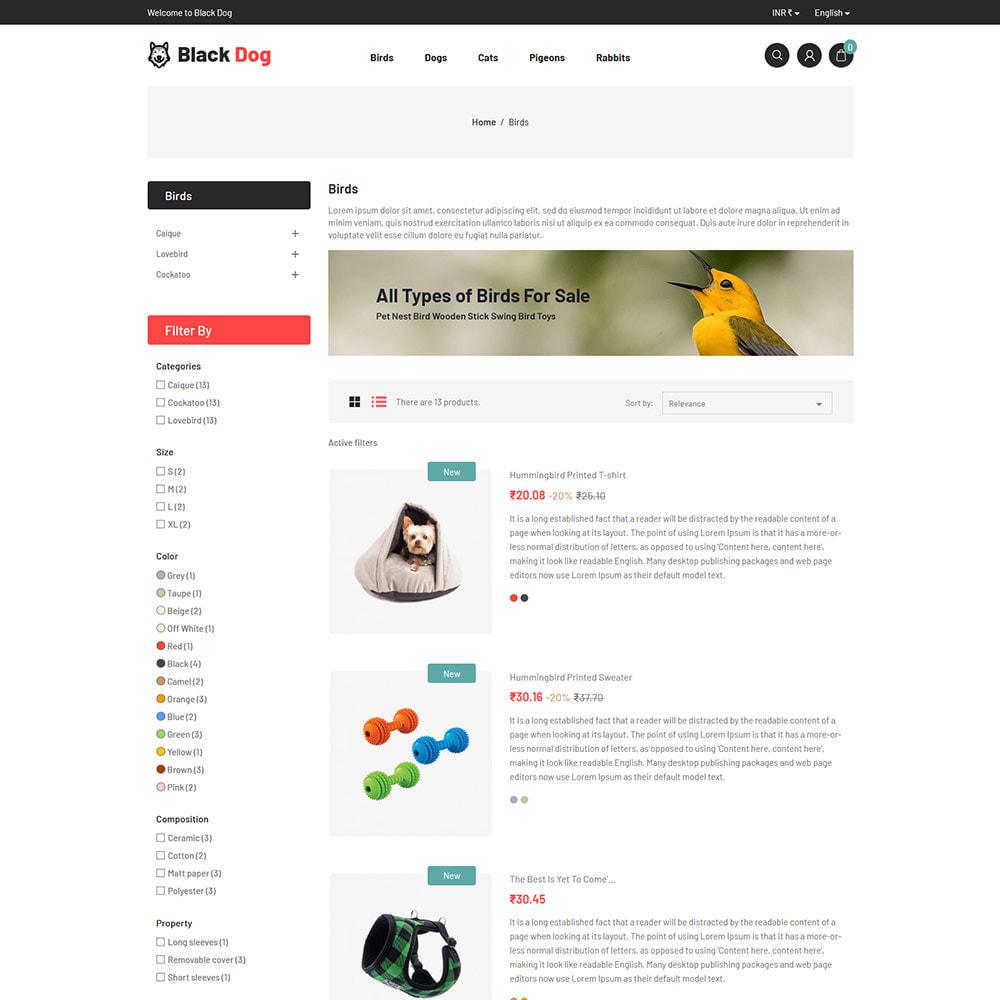 theme - Animals & Pets - Black Dog - Bird Pet Animal Food  Store - 4