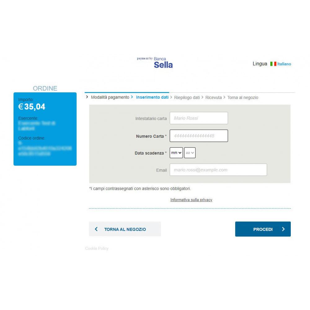 module - Pagamento con Carta di Credito o Wallet - Modulo per incasso Axerve Banca Sella - Ex GestPay - 4