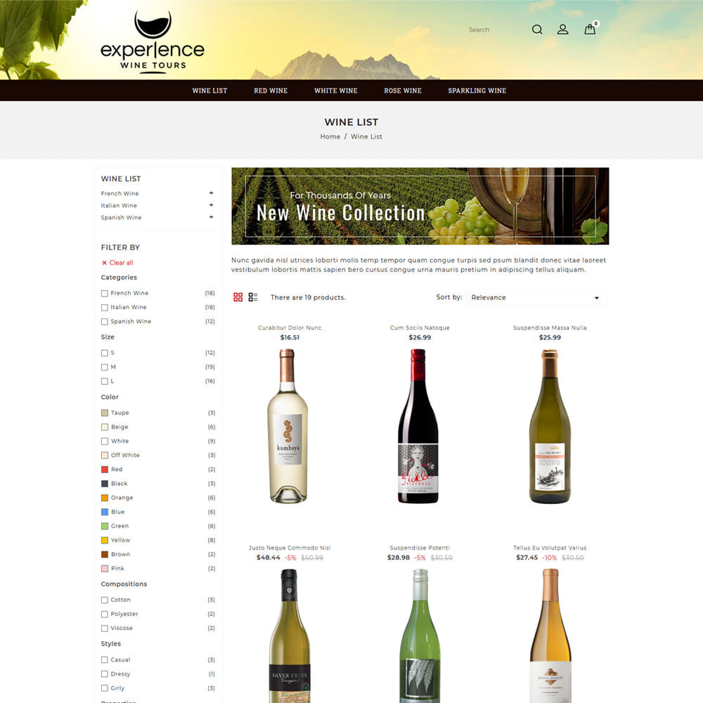 theme - Напитки и с сигареты - Experlence - Wine & Drink Store - 3