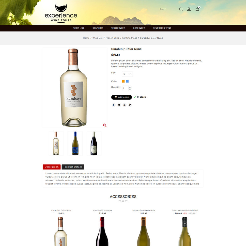 theme - Напитки и с сигареты - Experlence - Wine & Drink Store - 4
