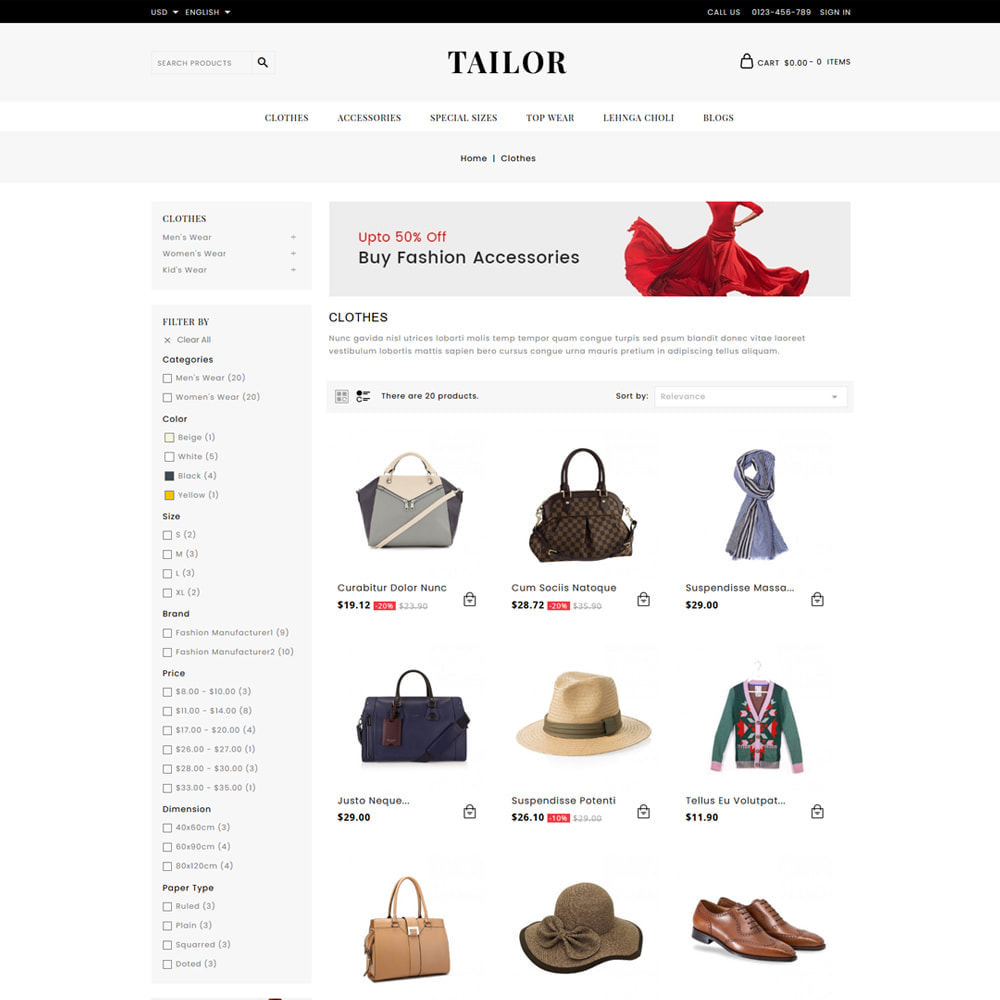 theme - Mode & Chaussures - Tailor Fashion Store - 3