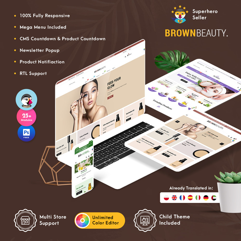 theme - Health & Beauty - Brownbeauty - Herbal Care - 1