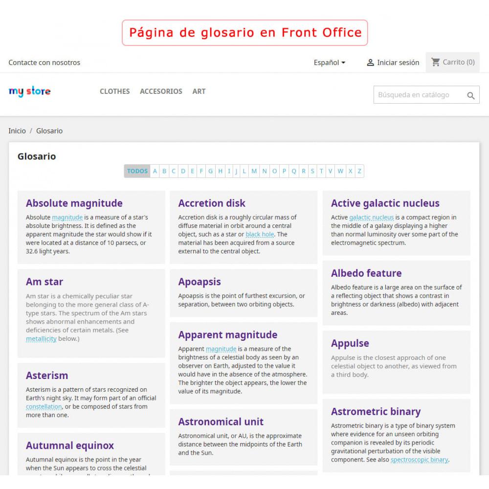 module - Personalización de la página - Súper Glosario - 1