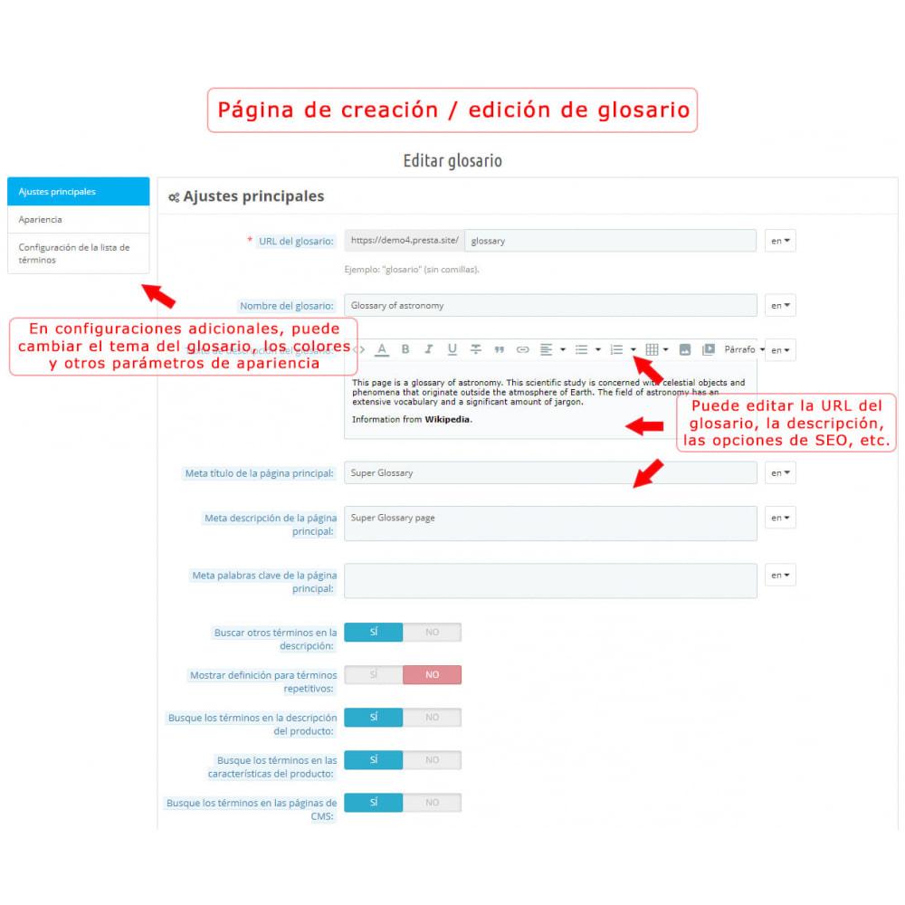 module - Personalización de la página - Súper Glosario - 9