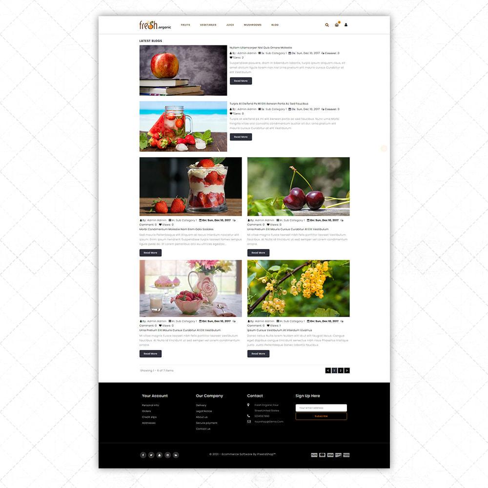 theme - Alimentos & Restaurantes - Organic Fresh - 8