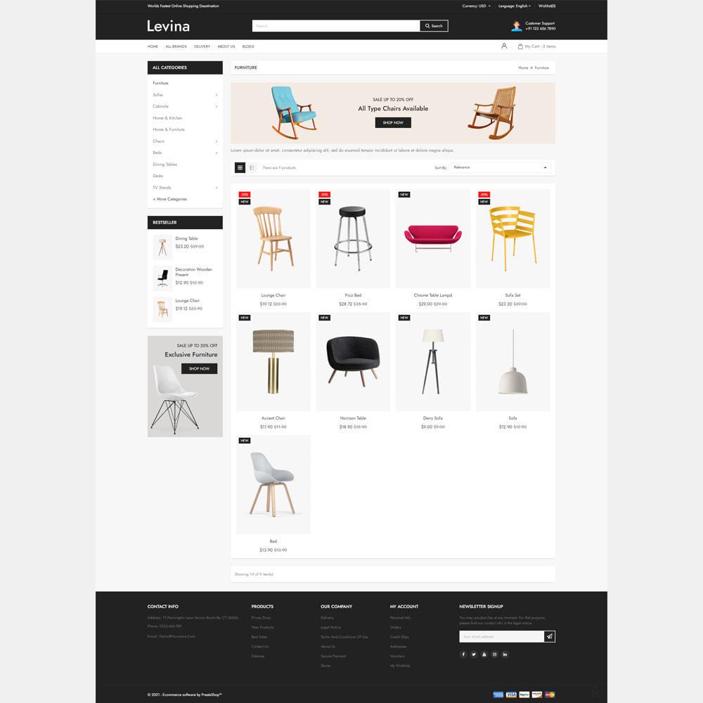 theme - Home & Garden - Levina - Furniture Responsive Store - 3