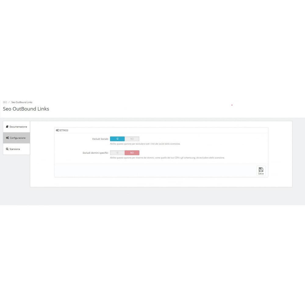 module - SEO (Indicizzazione naturale) - SEO trova Link esterni scansione automatica - 1