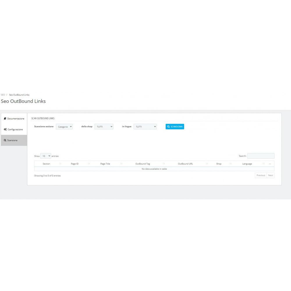 module - SEO (Indicizzazione naturale) - SEO trova Link esterni scansione automatica - 3