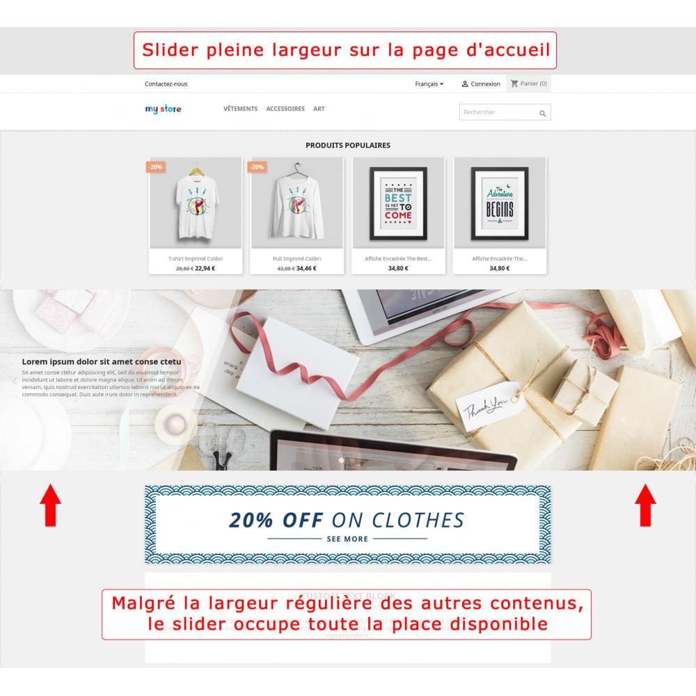 module - Sliders & Galeries - Slider pleine largeur - 1
