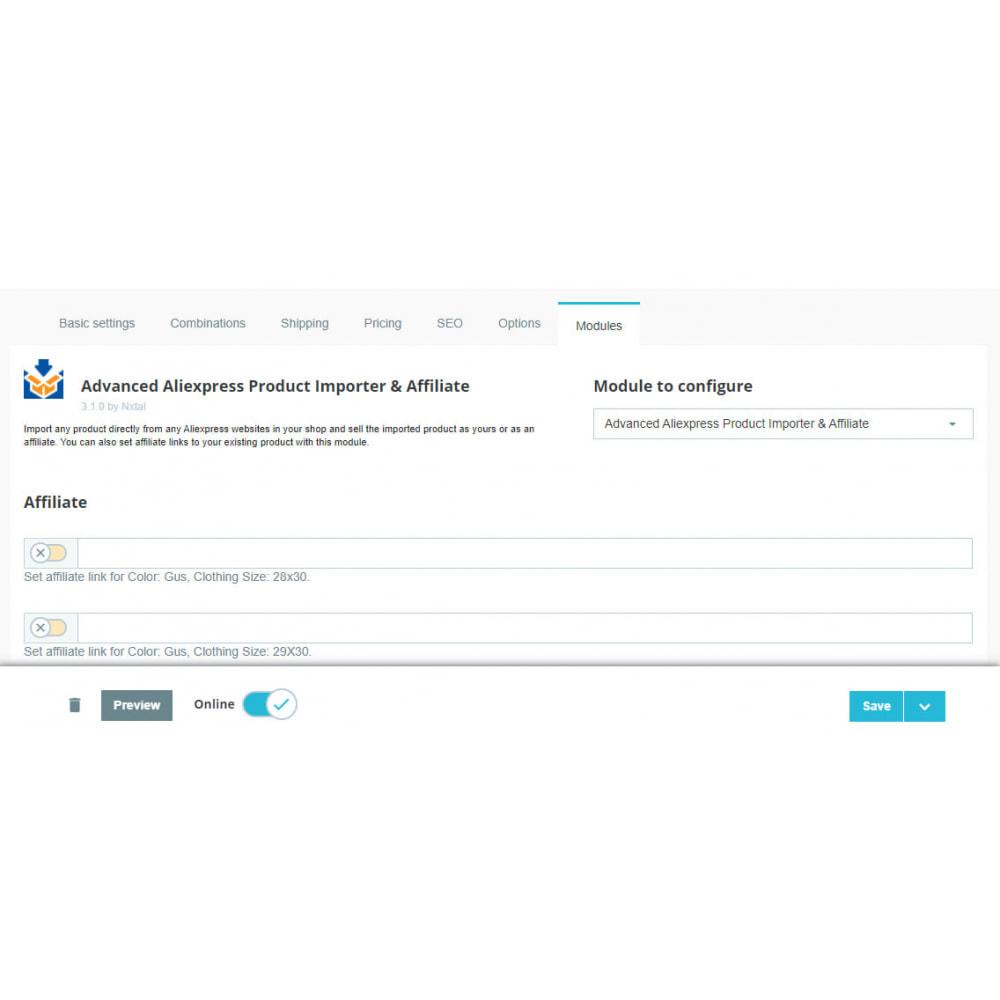 module - Importeren en Exporteren van data - Advanced Aliexpress Product Importer & Affiliate - 8