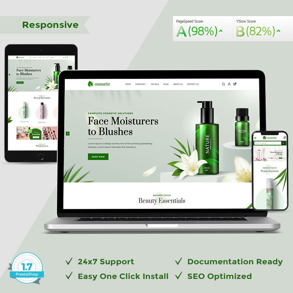 theme - Santé & Beauté - Cosmetic - Minimal Modern Store - 1