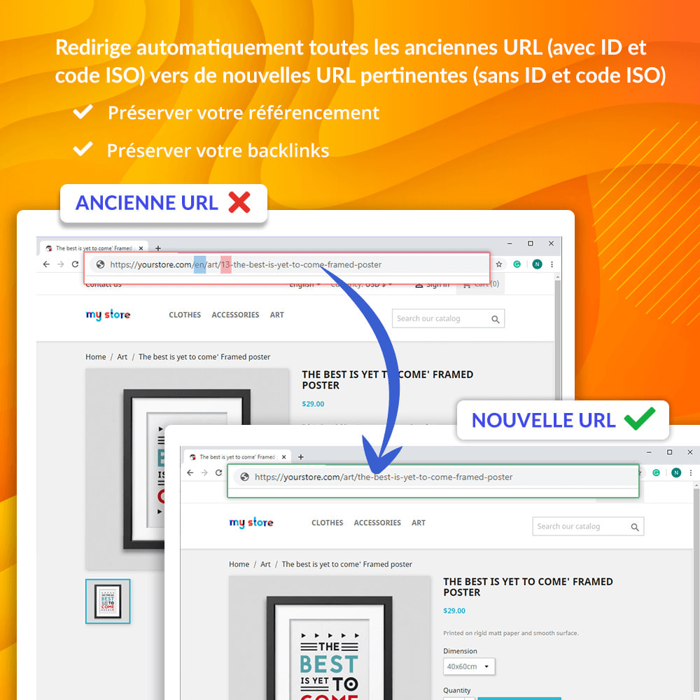 module - URL & Redirections - Awesome URL - Supprimer les ID (chiffres) & ISO des URL - 4