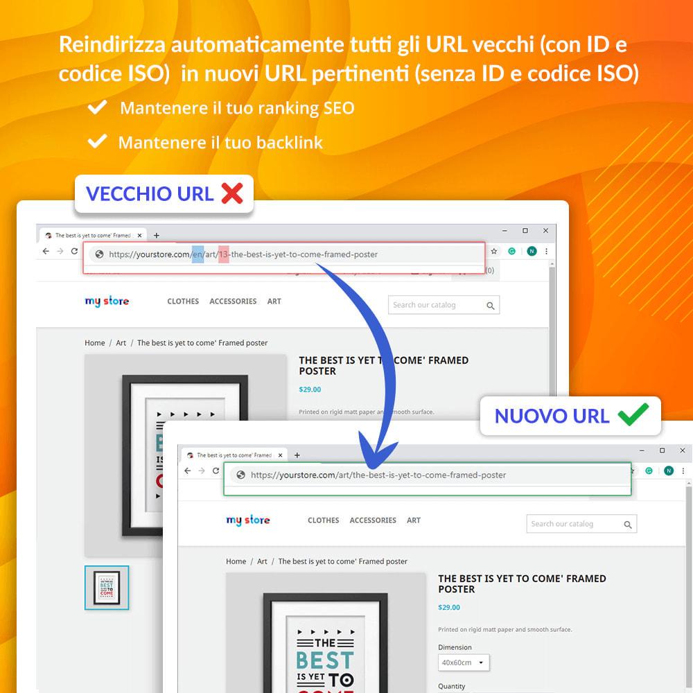 module - URL & Redirect - Awesome URL - Elimina gli ID (numeri) e ISO nell'URL - 4