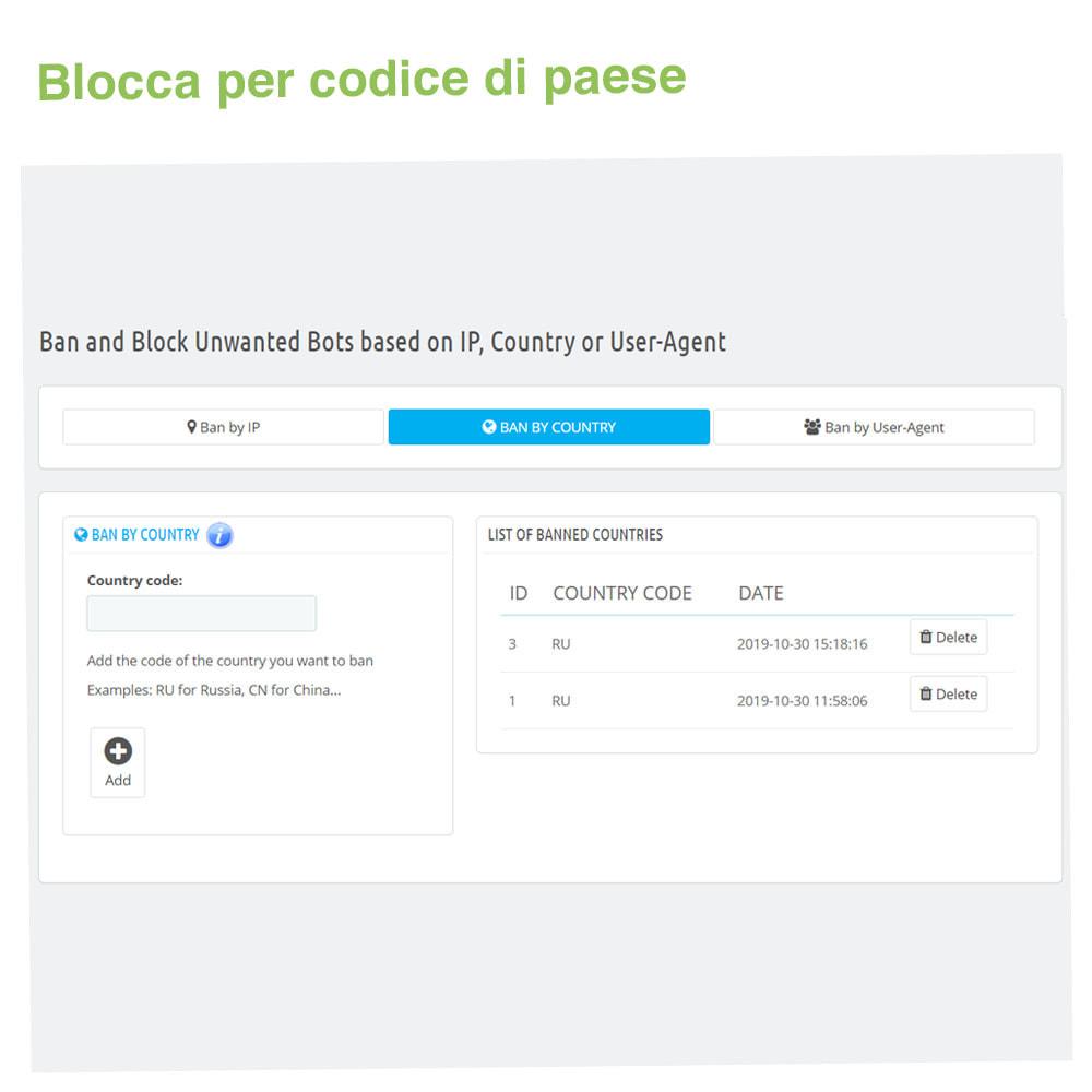 module - Security & Access - Blocca Bot tramite IP, Paese o Agente utente - 3