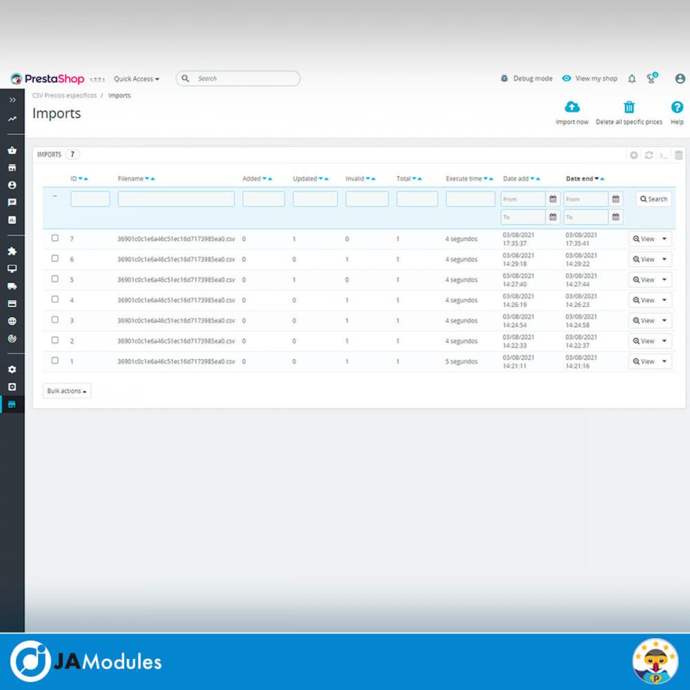 module - Import & Export de données - CSV Specific Prices - 4