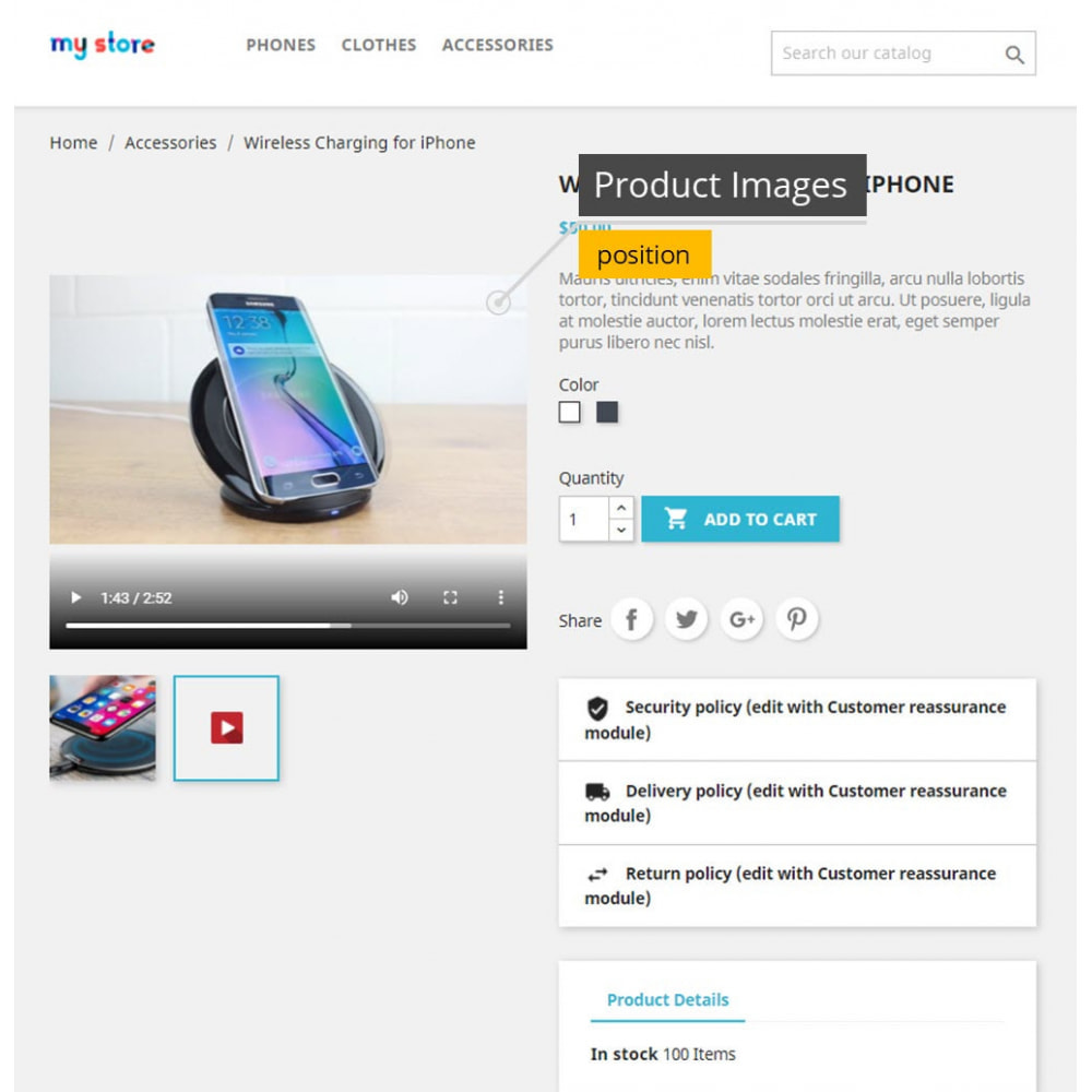 module - Additional Information & Product Tab - Product Videos - Upload Videos for Products - 1