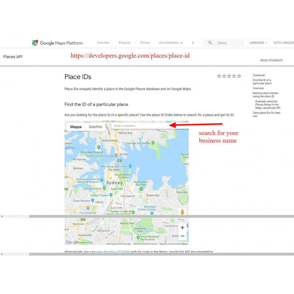 module - Recensioni clienti - Incorpora le recensioni di Google My Business - 8