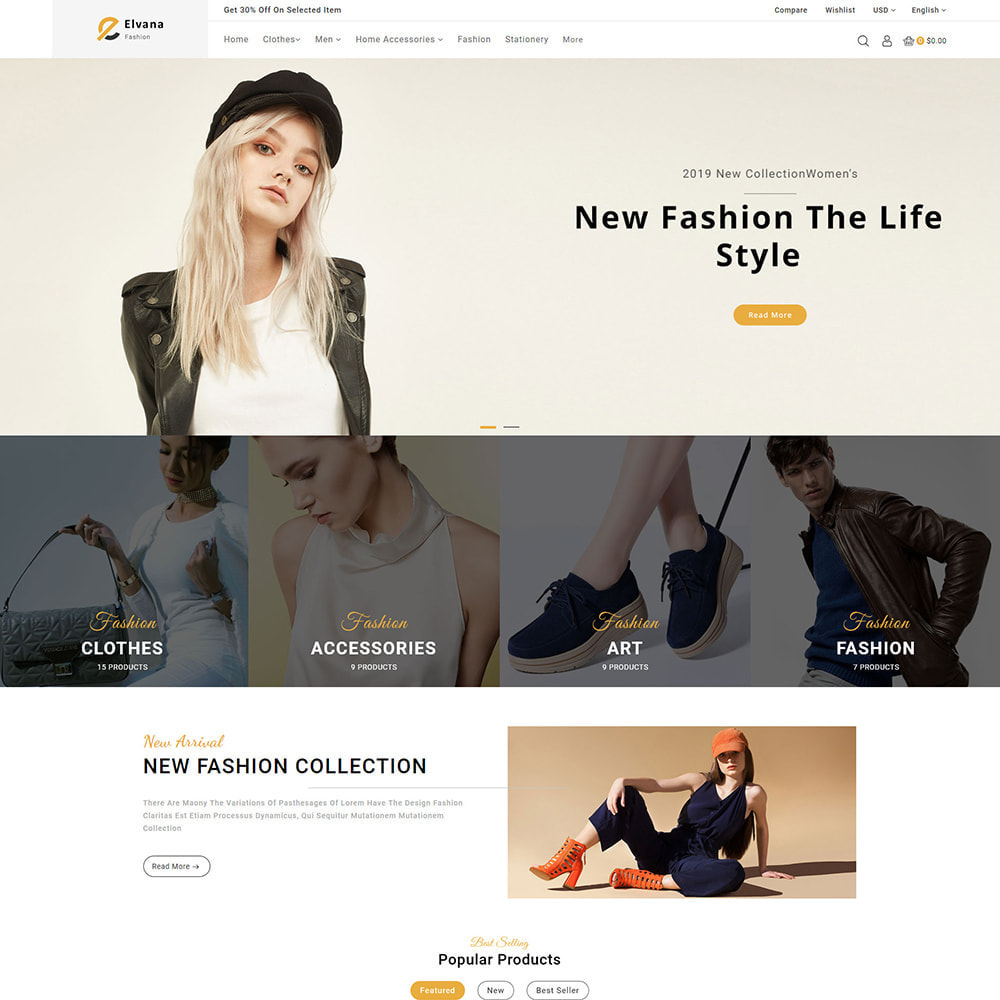 theme - Moda y Calzado - Elvana - Fashion & Clothing Shop - 2